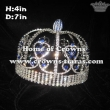 Full Round King Crowns With Blue Diamonds