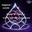Wholesale Pageant Purple Rose Crowns