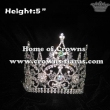 All Clear Crystal Pageant Crowns With Curved Band