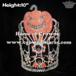 Orange Rhinestones Pumpkins Halloween Pageant Crowns