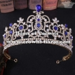 Wholesale Alloy Crystal Pageant Queen Crowns With Pearl And Big Diamonds