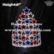 8in Height Crystal Pageant Crowns In Red Blue Clear rhinestones