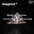 Wholesale 2inch Height Crystal Fleur De Lis Crowns