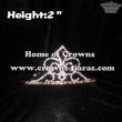 Wholesale 2inch Height Crystal Fleur De Lis Crowns