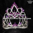 5in Dark Purple Diamond Stock Pageant Crowns