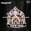 5in Height Candy Cane Pageant Crowns