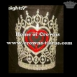 9in Heart Crystal Rhinestone Stock Crowns
