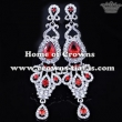 Wedding Earrings With Red Diamonds