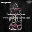 14in Height Apple Design Fall Crystal Crowns