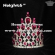 6inch Pink Crystal Diamond Crowns--Asteria Series