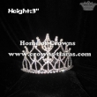 3in Height Crystal Pageant Pearl Crowns