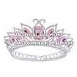 Full Round Alloy Crystal Pink Diamond Pageant Crowns