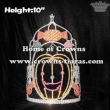 10in Big Pumpkin Candy Cane Rhinestone Crystal Crowns