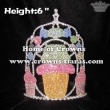 6inch Candy Ice Cream Crystal Crowns