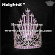 8inch Crystal Queen Crowns With Purple Diamonds