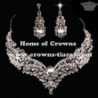 Wholesale Crystal Diamond Necklace Set