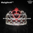 Red Heart Shaped Rhinestones Valentines Crowns
