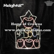Apple Shaped Crystal Pageant Crowns