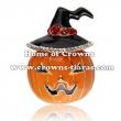 Fashion Alloy Crystal Pumpkin Brooches Pins